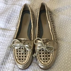 SPERRY TOP-SIDER LEATHER METALLIC SHOE SIZE 7M